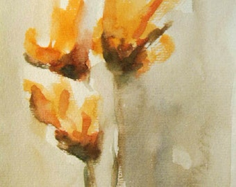 Flower Painting, Watercolor Flower Painting, Flowers, Modern Art, Contemporary Art, Modern Painting