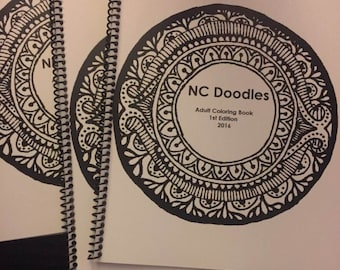 NC Doodles First Edition Adult Coloring Book