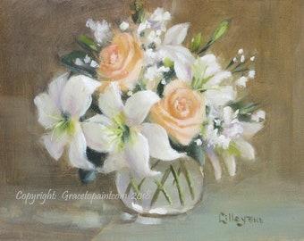 Soft-lit Elegance...Original Oil Painting by Maresa Lilley, SND