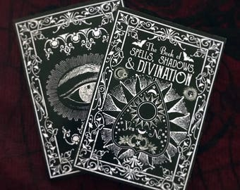 Black Book of Spells. A5 Notebook. Spell Book. Book Of Shadows. Book Of Spells. Lined Notebook. Magic Journal. Divination Journal