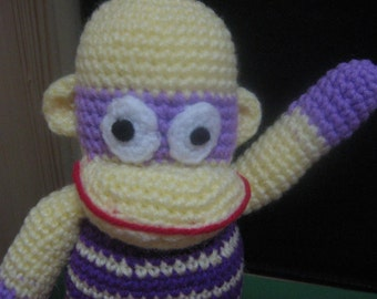 Monkey Crochet Pattern Toy Crochet Pattern Crochet Amigurumi Pattern PDF Instant Download Monkey Mosie