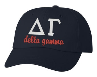 Delta Gamma, Delta gamma hat, sorority hat, delta gamma gift, greek hat, big little gift, sorority hat, sorority gift, back to school