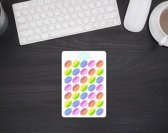 Planner Stickers Rainbow Corners