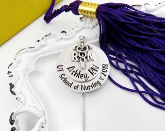 Registered Nurse Pin - Pinning Ceremony - Custom Stacked Nurse Pin - Personalized Nurse Brooch - Nurse Pin LPN - Nursing School Graduate