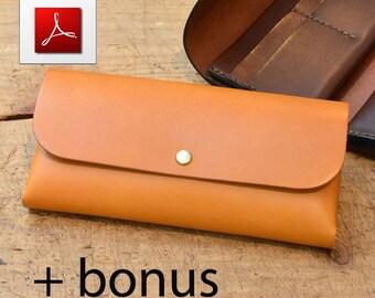 Leather Pattern Wallet leather pattern Purse pattern Leathercraft pattern + bonus ( pattern small wallet)