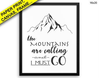 Mountains Wall Art Framed Mountains Canvas Print Mountains Framed Wall Art Mountains Poster Mountains Art Mountains Printed Poster Adventure
