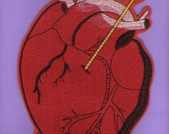 Big Heart Iron On patch
