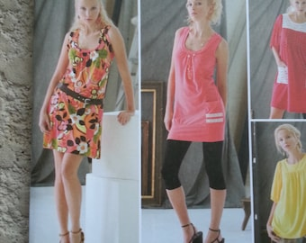 Mini Dress / short / sleeveless /summer / casual/tunic top dress 2008 sewing pattern, Bust 29 30 31 32 34, Size 4 6 8 10 12, Simplicity 2998