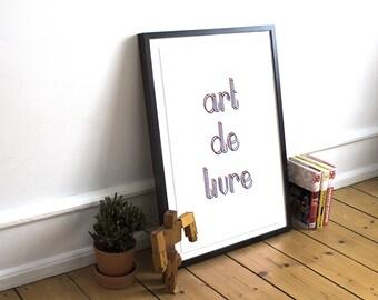 Affiche «Art de livre»