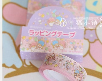 A roll of little twin stars washi tape - glossy type