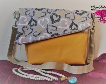 "Fold-Over bag ""Hearts"""