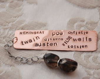 Personalized - Favorite Author Bookmark