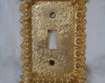 Vintage Ornate  Gold Switch Plate
