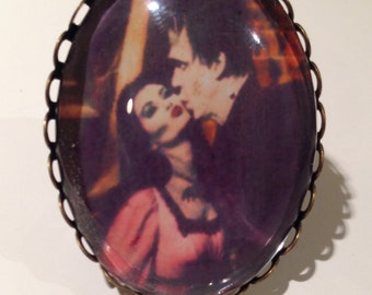 Lily Munster and Herman Munster Ring