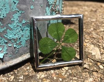 Four Leaf Clover Charm Necklace