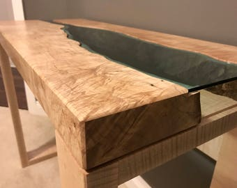 Maple River Glass Console Table