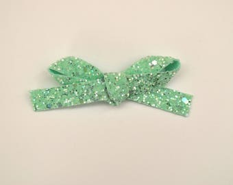 Freshmint Glitter LARGE Bow Clip Photo Prop for Newborn Baby Little Girl Child Adult Holiday Christmas Fresh Headwrap Pretty Bow Clip
