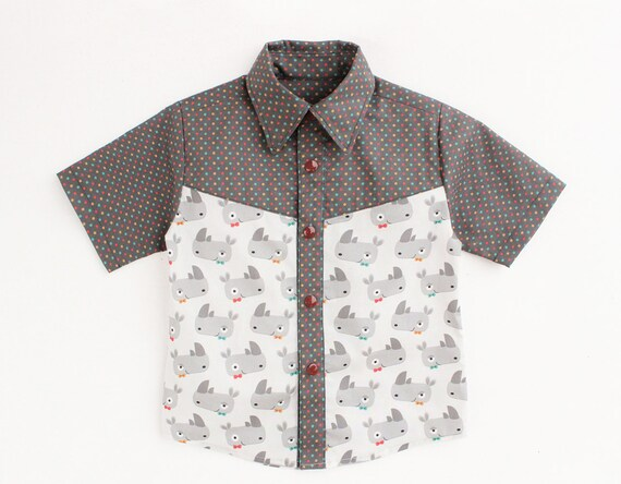 Boy Girl Shirt Pattern Pdf Sewing Children Shirt Toddler
