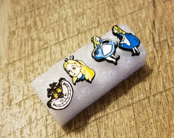 Disney Alice In Wonderland Stud Earrings