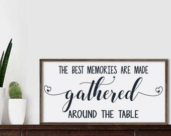 Elegant Kitchen Sign Dining Room Sign Kitchen Decor Dining Room Decor Rustic Framed  Wood Sign The Best