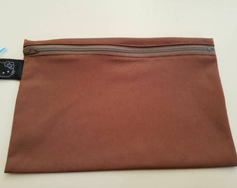 Small Wet Bag Brown w/ Hello Kitty tag