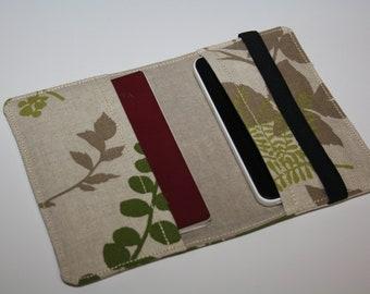 Leaves  Passport cover Passport case /  passport holder, 2 passport holder, passport wallet, travel organizer, travel gift