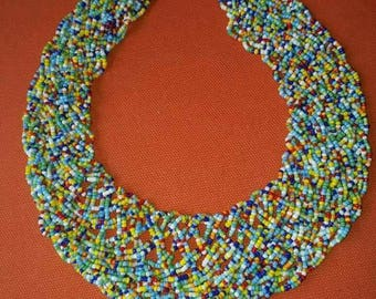 Collar African Maasai Neckpiece / Maasai necklace / African maasai beaded Necklace