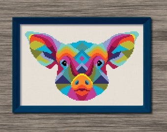 Pig Face  - PDF Cross Stitch Pattern