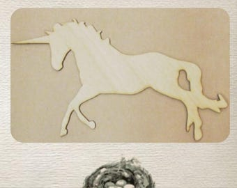 Unicorn - (Small) Wood Cut Out -  Laser Cut