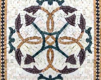 Green and Gold Mosaic Square - Masarrah