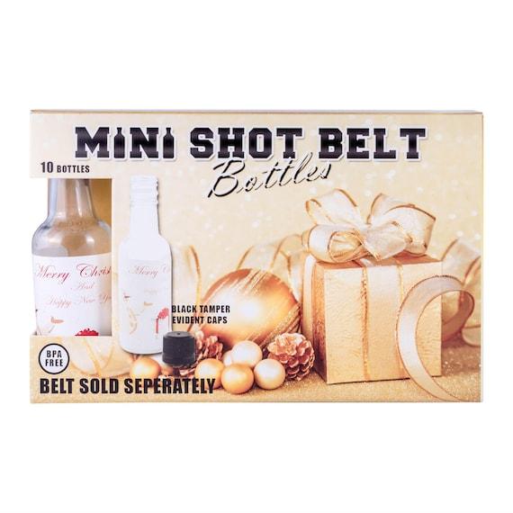 10 Mini Liquor Bottles Christmas hoiliday labels
