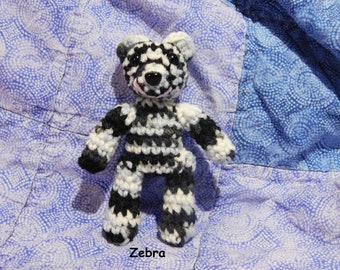 Crochet Tiny Lil' Teddies!  Handmade take along sized pets.