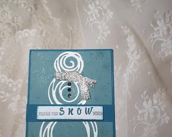 snowman thank you card