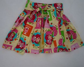 Strawberry shortcake skirt baby girl skirt toddler skirt birthday party skirt
