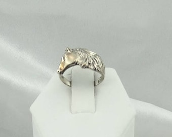 Vintage Horse Lover's Sterling Silver Ring FREE SHIPPING! #HORSE-SR2