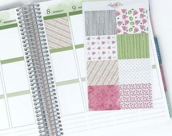 Juicy Watermelon Full Boxes - Erin Condren Planner Stickers