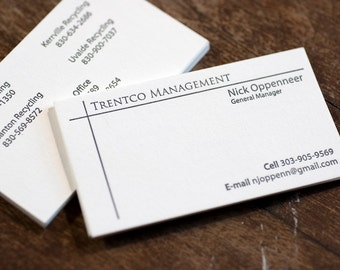 Letterpress Business Cards | Two Side Letterpress Printed Business Cards | Logo Business Card