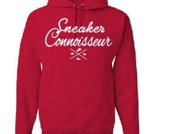 Sneaker Connoisseur red hoodie