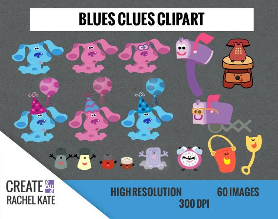 Deluxe Blues Clues Clipart Set For Digital Scrapbook Paper