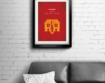 Halloween - alternative, minimalist movie poster, John Carpenter, art print, home decor