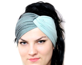 Stretch Twist Head band Mint - Turban Wide Hippie Boho Headband head bands Hair Coverings