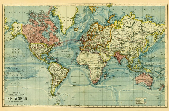 World map printable digital downloadold world map instant digital old world map instant digital downloadintable maphigh resolution world map crafting map scrap from antiquedigitalprint on etsy studio gumiabroncs Images
