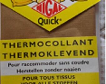 PERCALE Thermocollante light brown - 100% cotton - tape 12 cm x 45cm