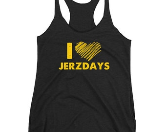 I LOVE JERZDAYS Jersey Shore Women's Racerback Tank