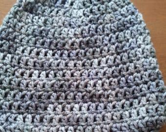 Grey Crochet Bennie