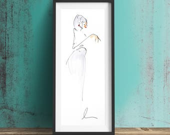 LITA Art Print, Limited Edition, Fashion Illustration, Wall Art, Decor, Drawing, Illustration, Fashion, Art