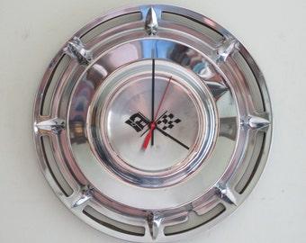 1960 Chevy Impala Hubcap Clock - Item 2626