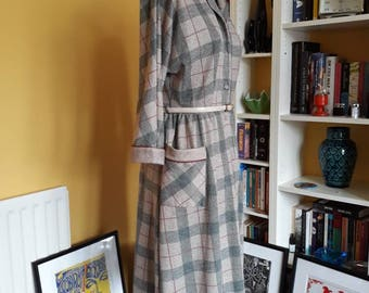 vintage 80's check/tartan secretary dress