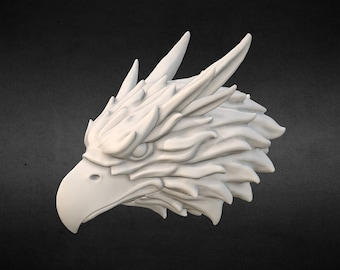 Griffin head Eagle head 3D print model
