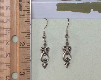 Elegant Filigree Earrings - Antique Silver or Antique Gold